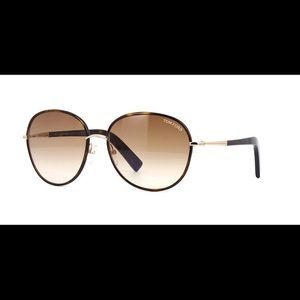 Tom Ford Brown Gradient Round Georgia Sunglasses